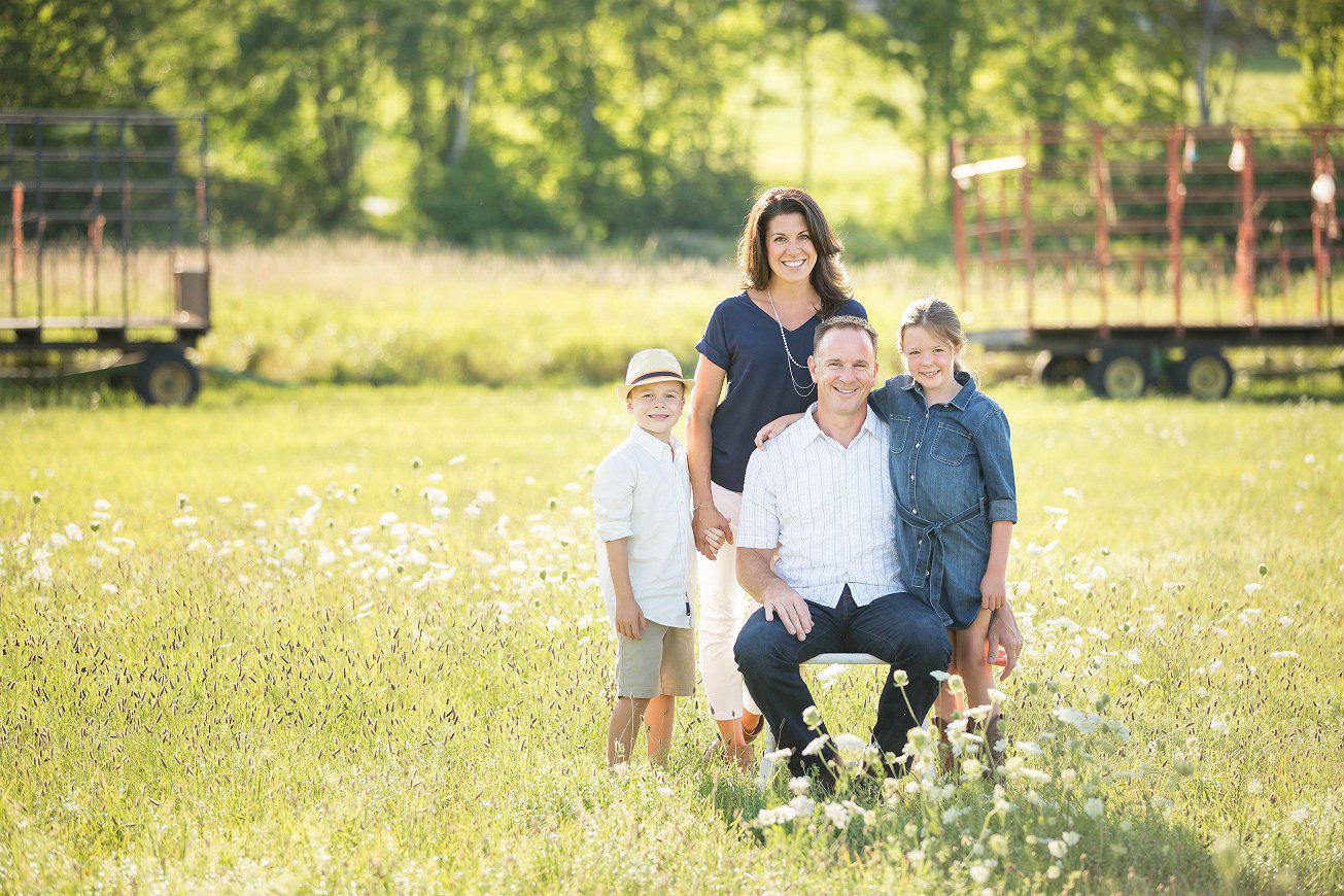 lancaster family portrait session in our favorite field