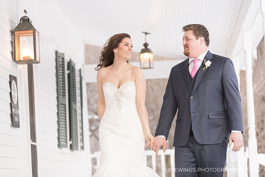 Kayleigh & Zach's Winter Wedding at Harrington Farm