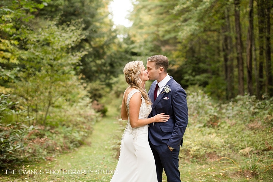 Greg + Erin's Western MA Backyard Tent Wedding