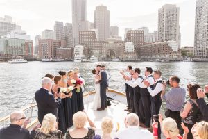 boston harbor yacht wedding ceremony