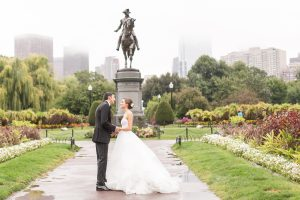 Boston Public Garden wedding pictures