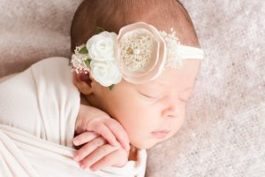 sweet newborn baby girl by Bolton MA photographers