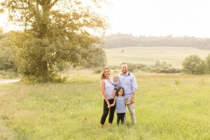ashburnham ma family portrait photography session outdoors in a field