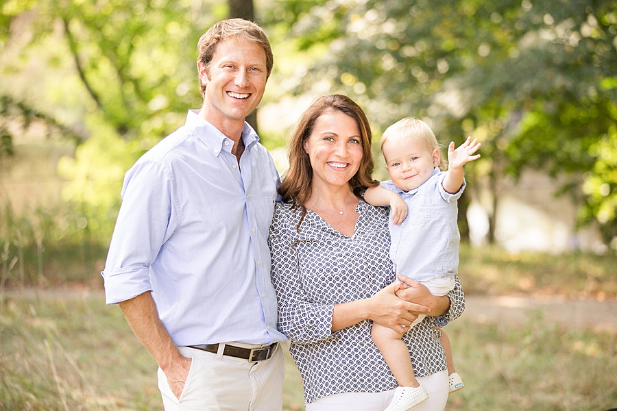 An outdoor family portrait session in Concord ma