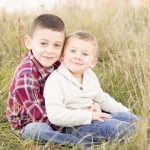 acton ma family portraits with sweet two brothers outside