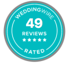 The Ewings have 49 reviews on Wedding Wire as the best rated boston-area wedding photographers.
