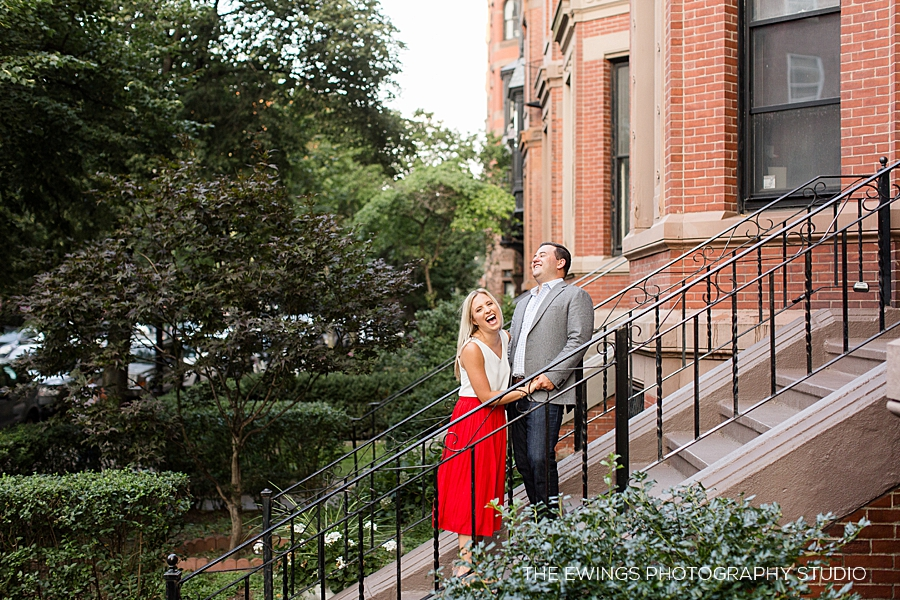 Summer engagement session in Boston's back bay