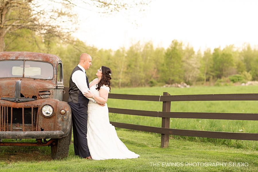 Spring farm wedding at Zukas Hilltop Barn in Spencer MA