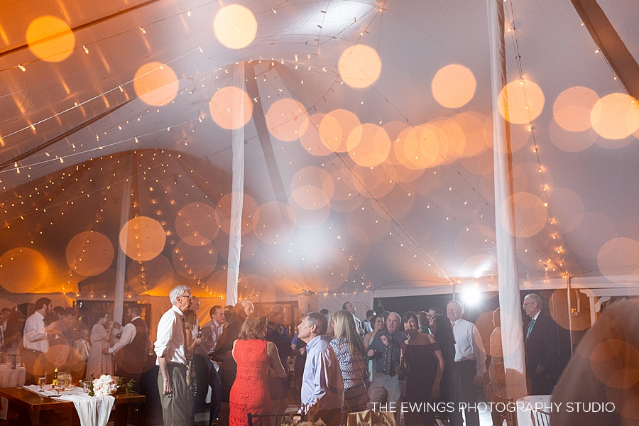 Zukas is a tent wedding venue in Central Mass—here's a double exposure of the dance floor!