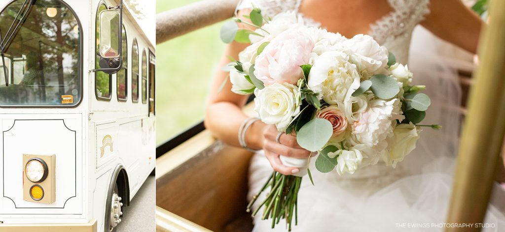 Cape Cod trolley is a great wedding transportation in Falmouth