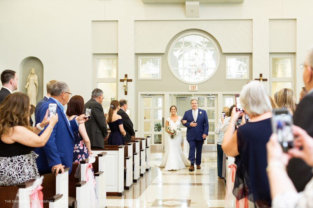 Wedding ceremony at Christ the King in Falmouth