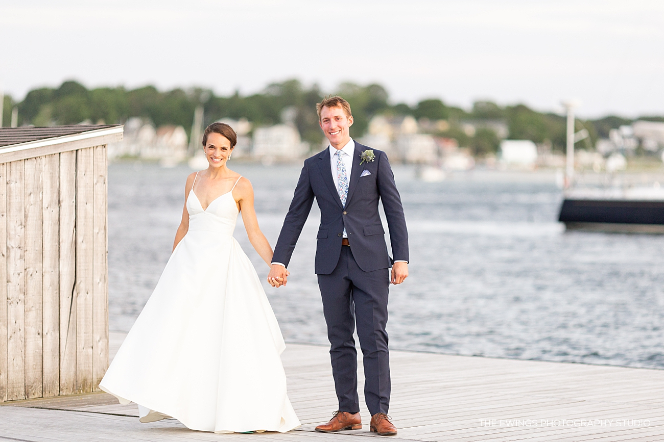 This was an oceanfront wedding venue in Gloucester MA, the Annisquam Yacht Club wedding.