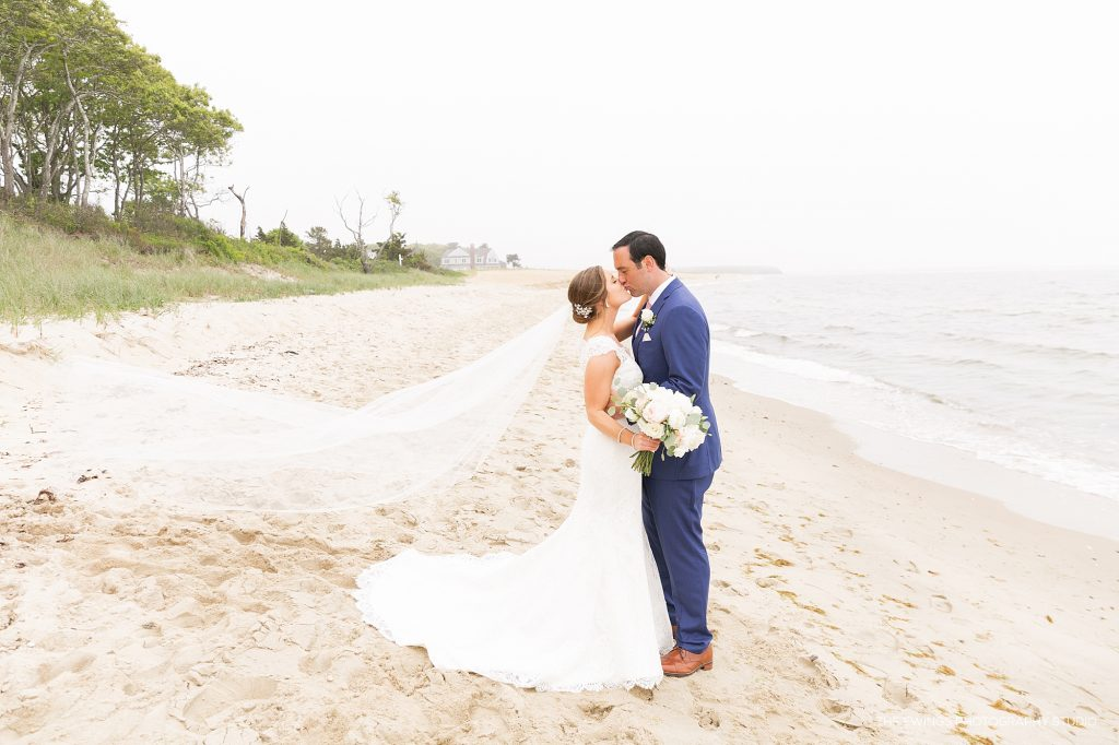 Popponesset Beach is a beautiful location for wedding photographs.