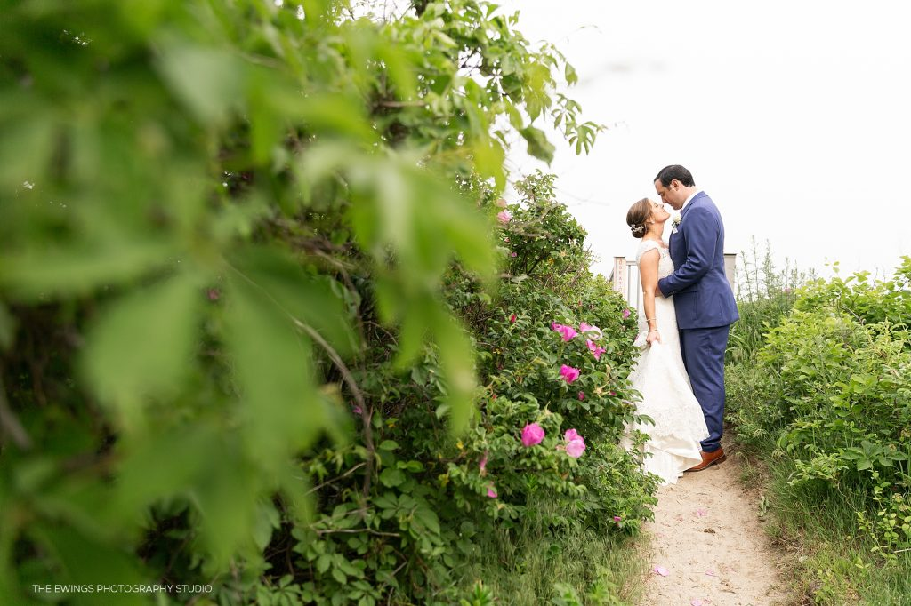 The Ewings are a Cape Cod wedding photography and videography studio. Here they are photographing a Falmouth wedding at Popponesset Beach.