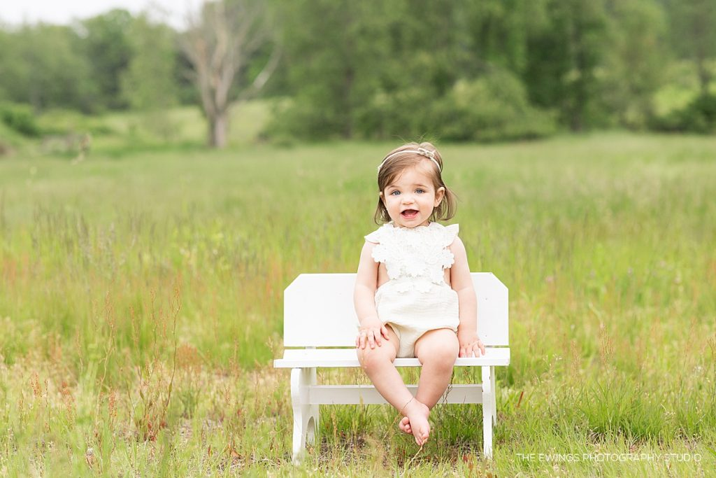 One year portrait session with The Ewings photography studio based in Boston's metrowest area.