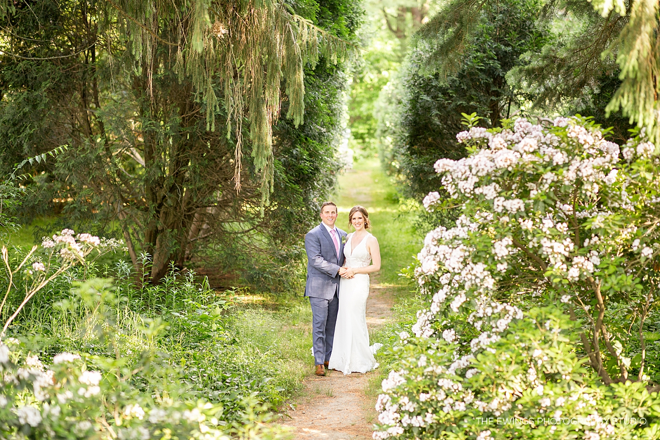 A summer wedding at Glen Magna Farms, a unique outdoor estate wedding venue in Boston's North Shore. Glen Magna Farms has a mansion, tented reception & expansive gardens.