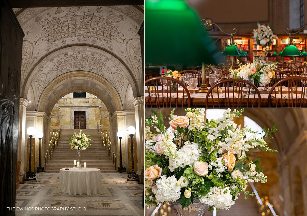 Boston Public Library is the most stately wedding venue in Boston.