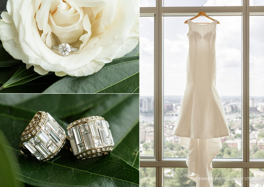 Wedding details photographed at the Ritz Carlton Boston Common by The Ewings Photography Studio.