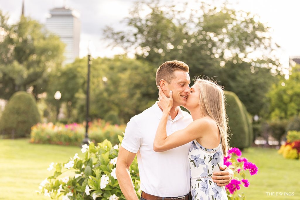 boston public garden engagement session