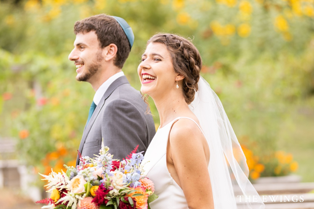 A perfect summer Jewish wedding at Zukas Hilltop Barn,a farm wedding venue in central Massachusetts.
