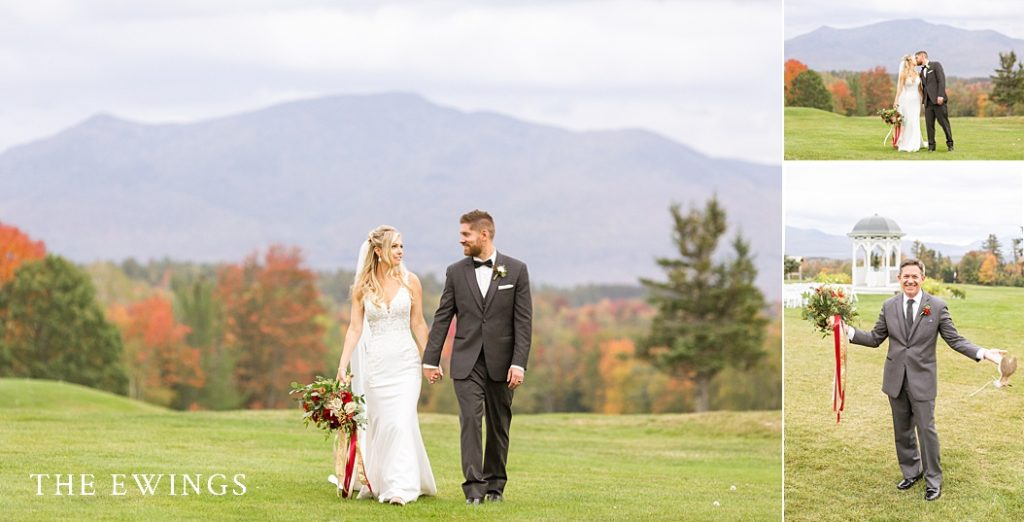 The views at Mountain View Grand hotel are spectacular for this bride and groom's wedding day!