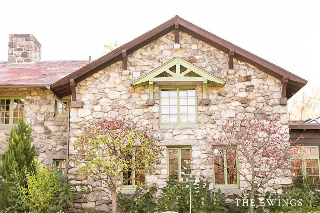 Willowdale's stone exterior makes it a grande and unique place to host a wedding!