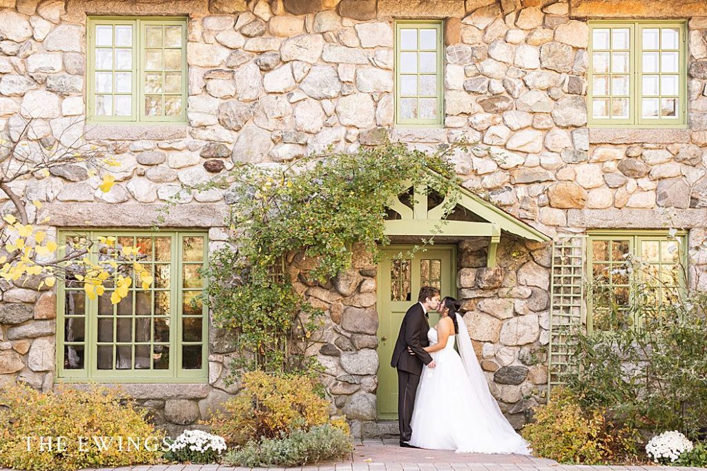 A fall wedding at Willowdale Estate in Topsfield, near Salem MA.