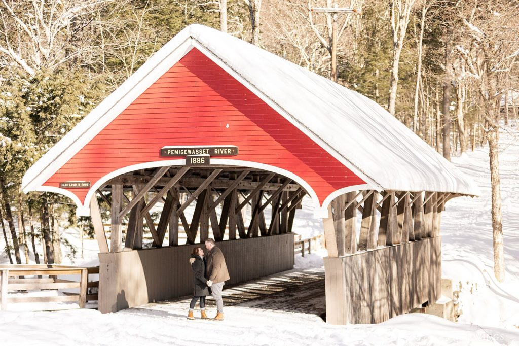 We wandered through the woods of Franconia Notch and found a gorgeous red covered bridge in the middle of the woods