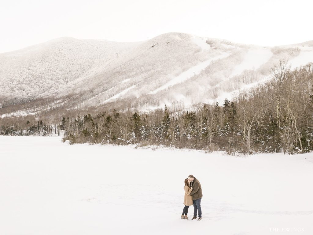 This is an engagement session at Echo Lake in Franconia NH, the heart of the white mountains. The mountain views are gorgeous!