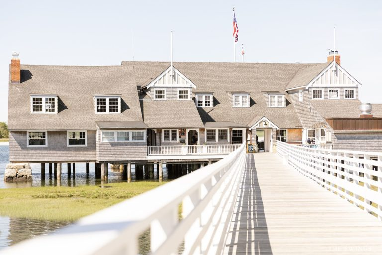 A photograph of Annisquam Yacht Club, a unique waterfront wedding venue in Gloucester MA.