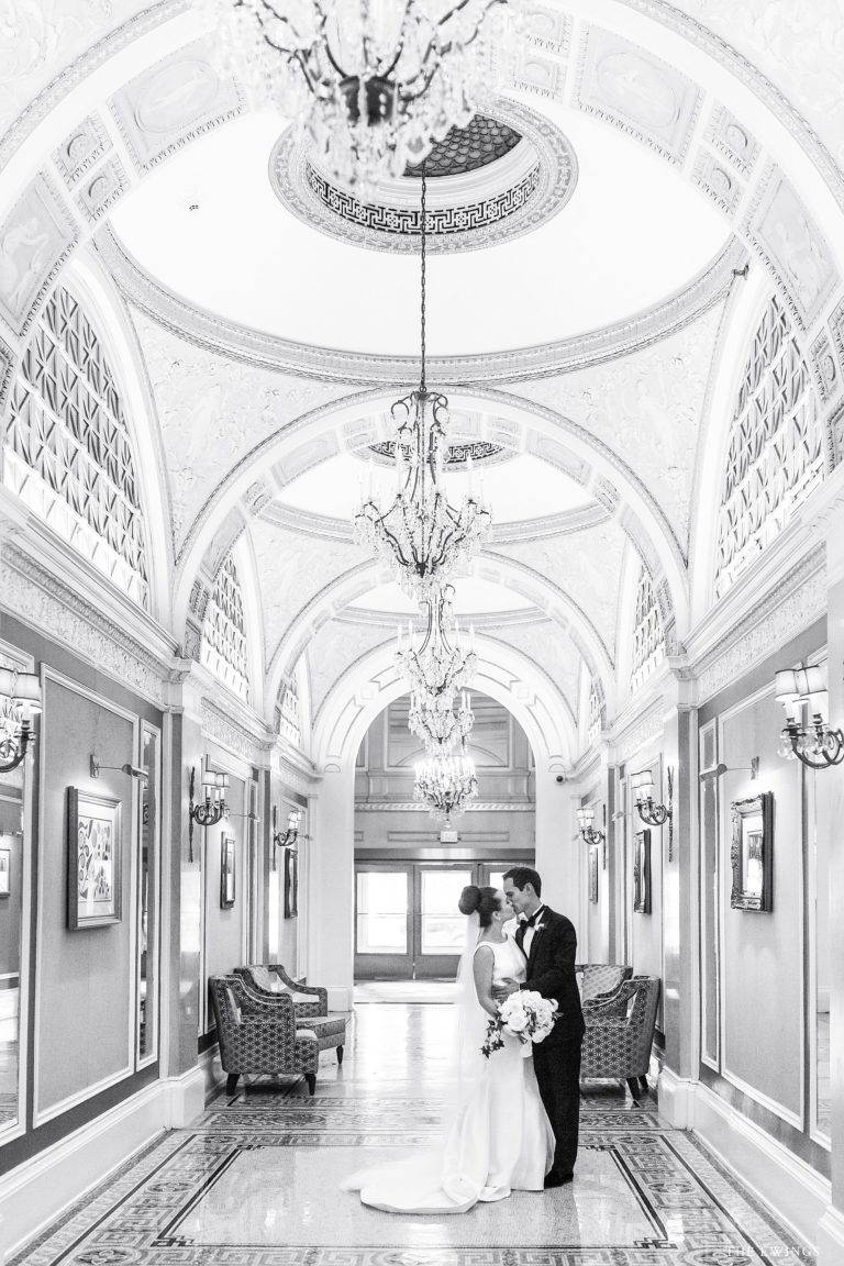 The Fairmont Copley Hotel welcomes this bride and groom on their wedding day.