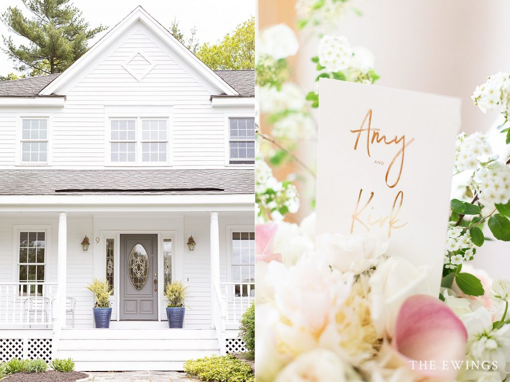Beautiful details from a sweet backyard wedding with 10 guests in the Greater Boston area.
