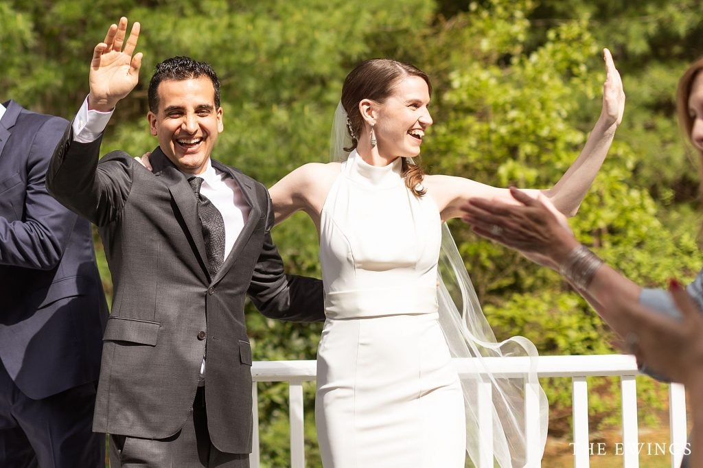 They were married in her parents' backyard during the pandemic in Acton MA.