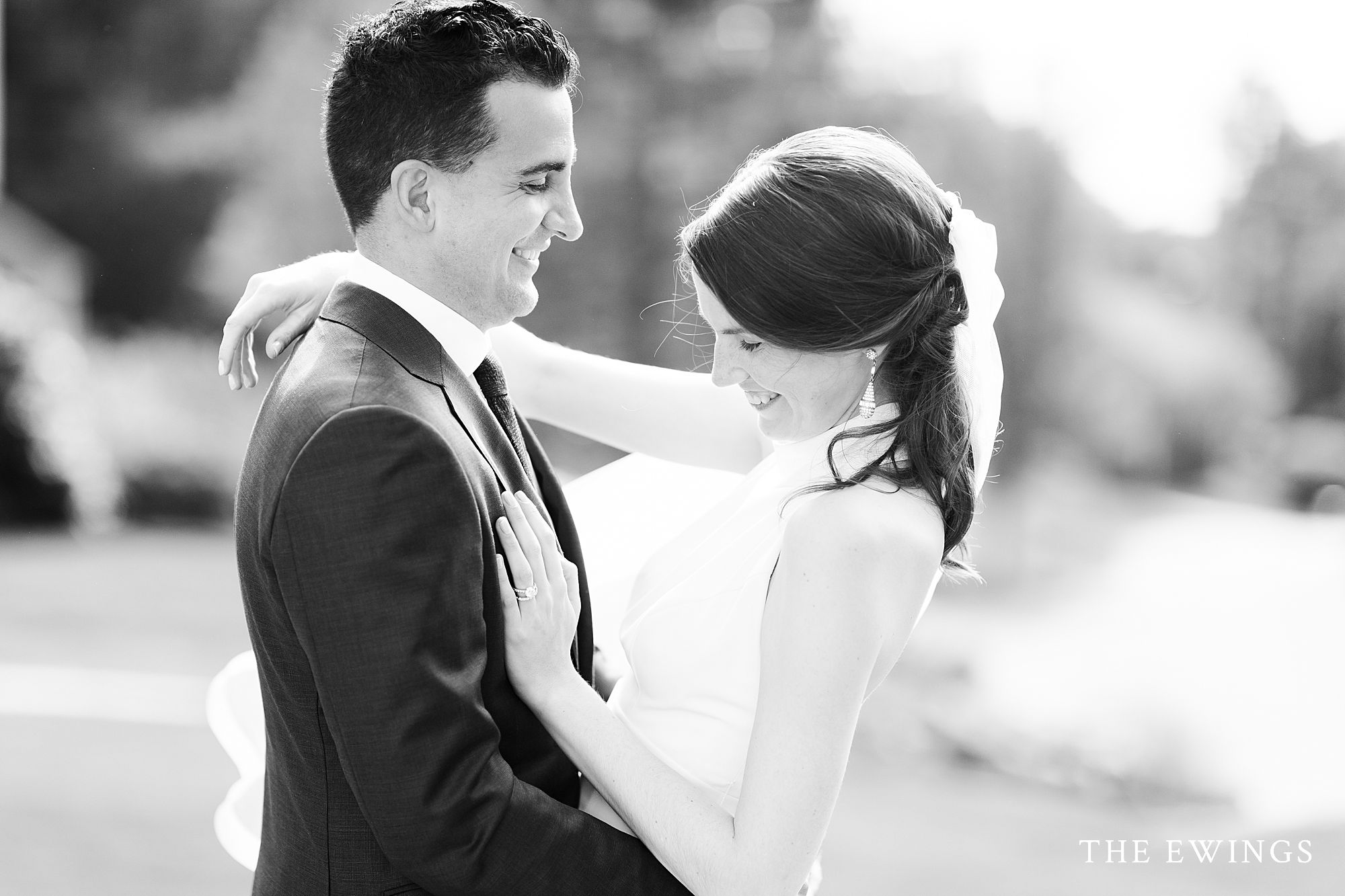 intimate backyard wedding elopement in acton for Amy and Kirk, black and white photo