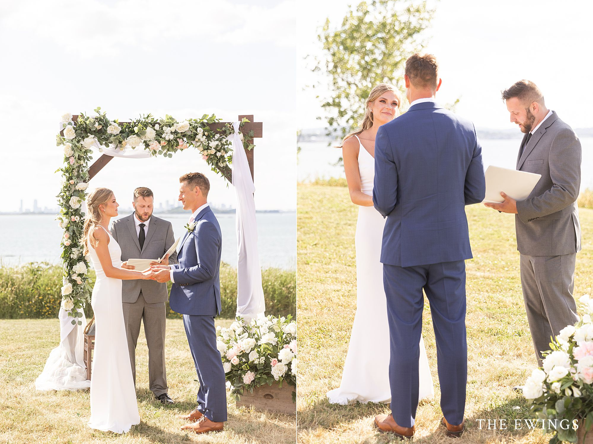 An intimate micro wedding at Nut Island in the Boston Harbor.