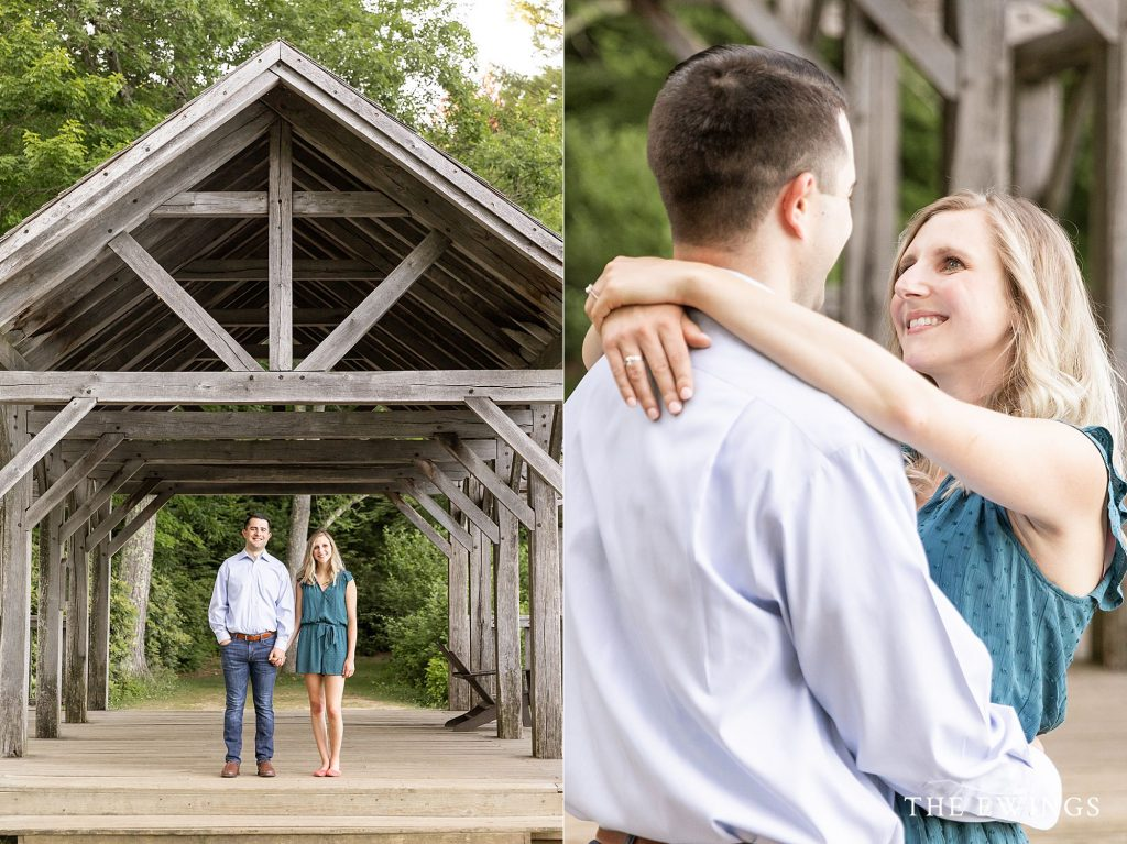 Moore state park engagement session.