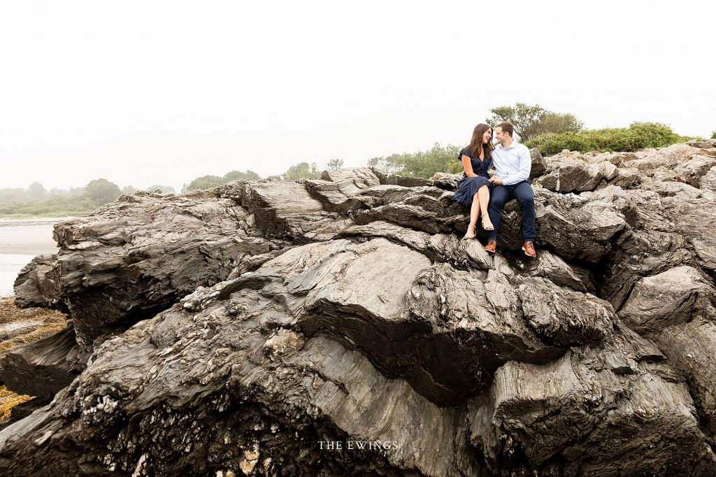 An engagement session in Portland on the coast of Maine.