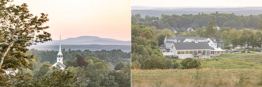 The views from the Castle above Gibbet Hill in Groton overlook Forge & Vine and the Groton Inn. Gorgeous at sunset!