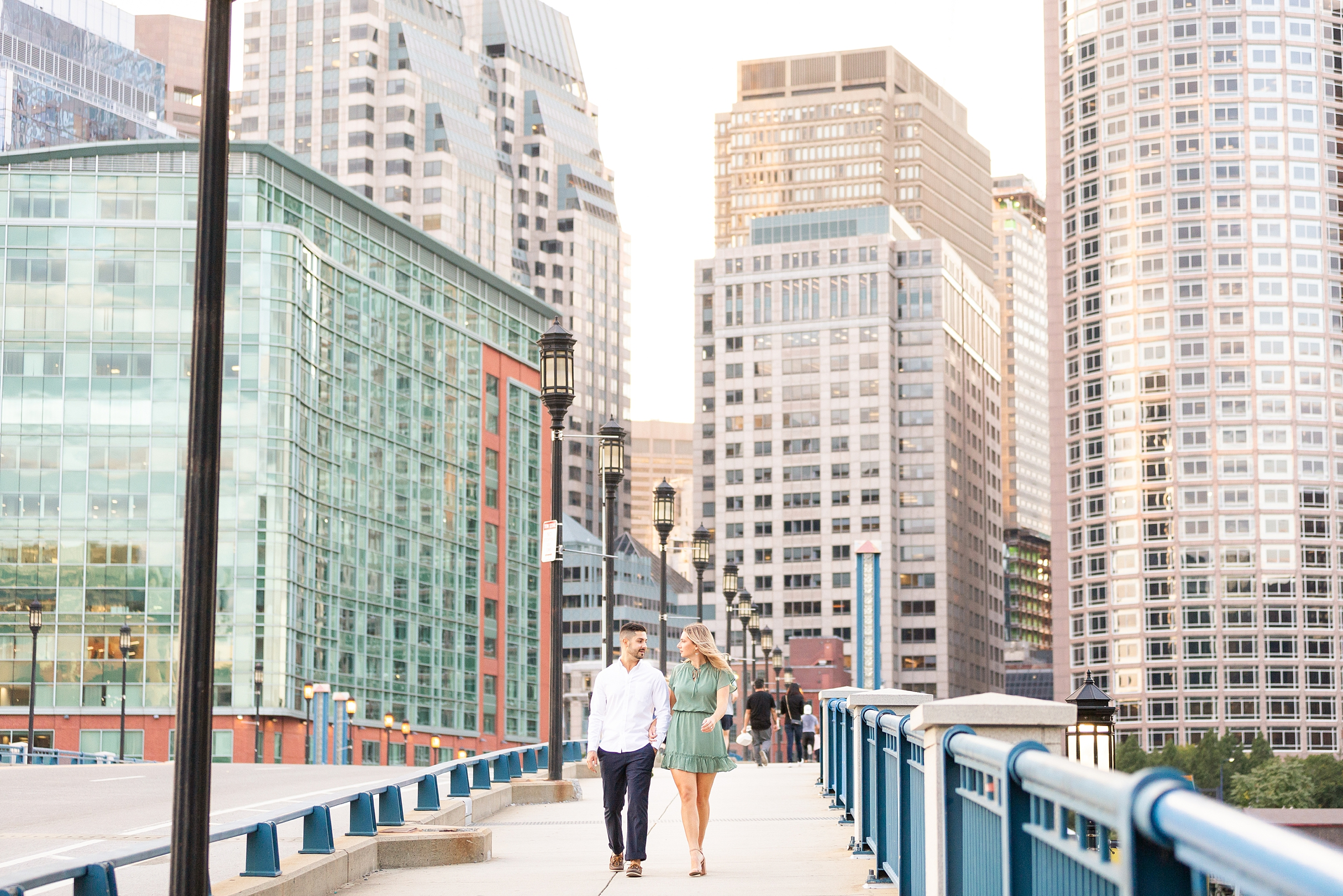 Seaport Boston engagement session best views of boston for pictures