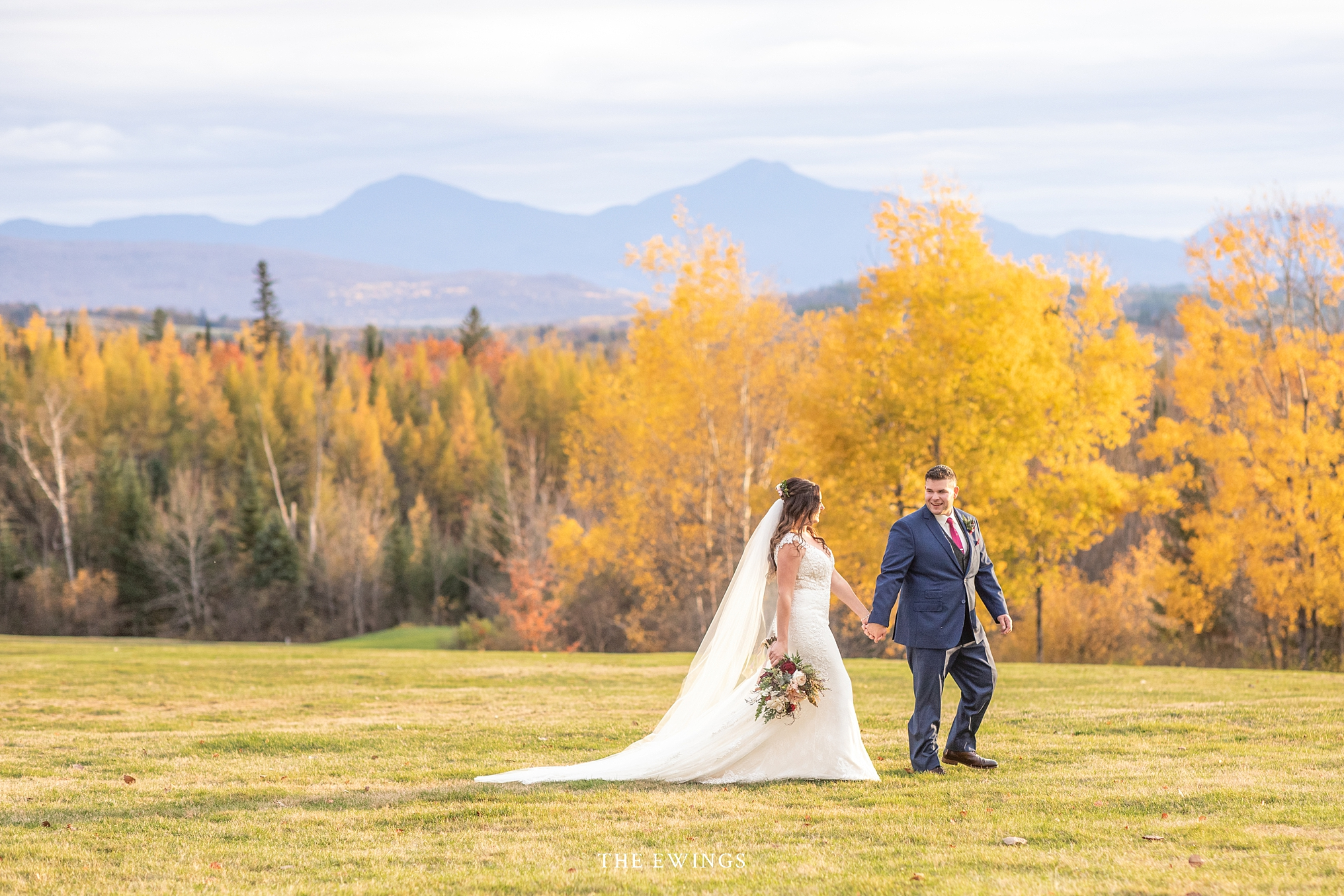 The most epic mountain views in New England at the Mountainview grand a unique wedding venue and hotel in NH.