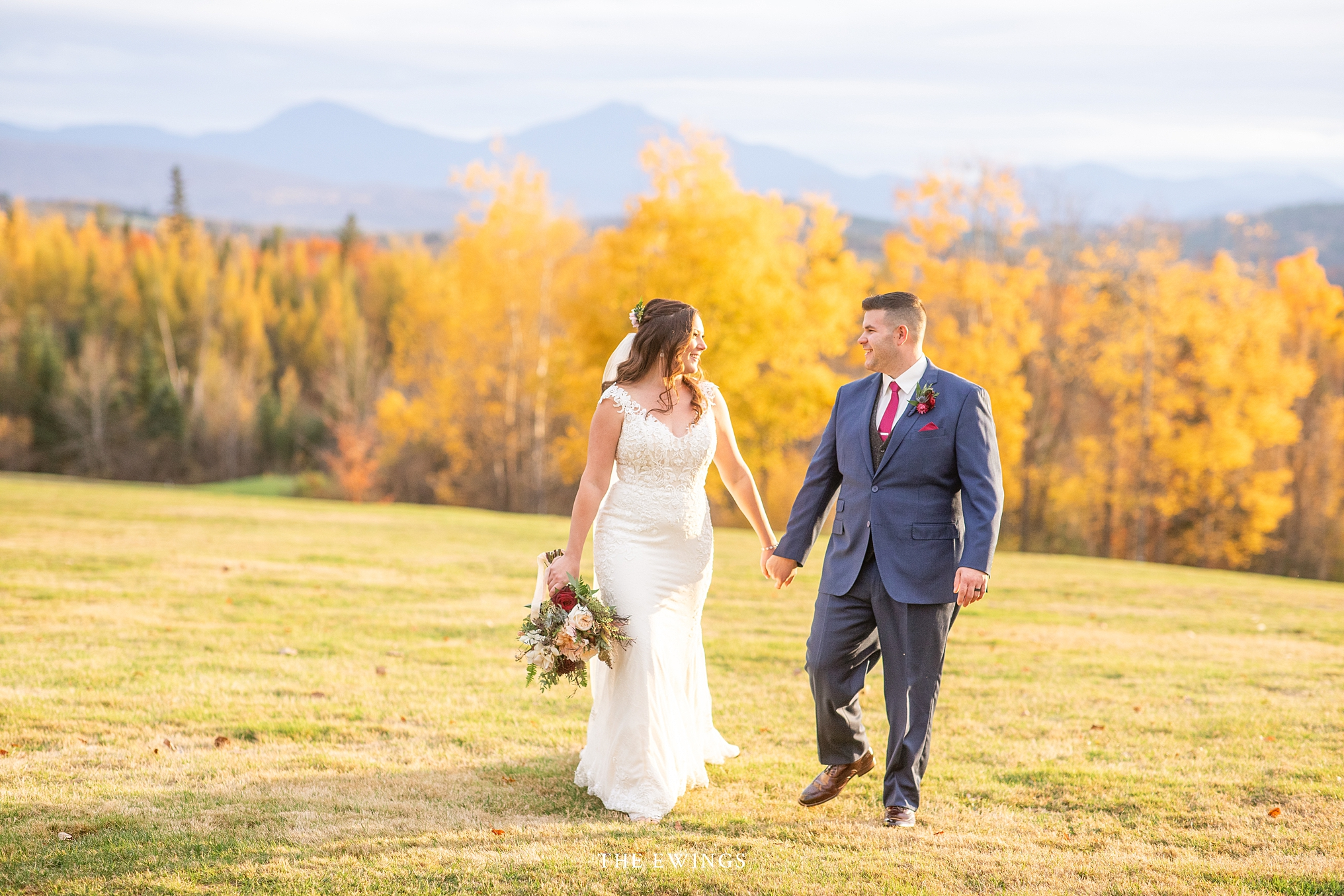 These two eloped at the Mountainview Grand in the white mountains of New Hampshire, with views of Mount Washington.
