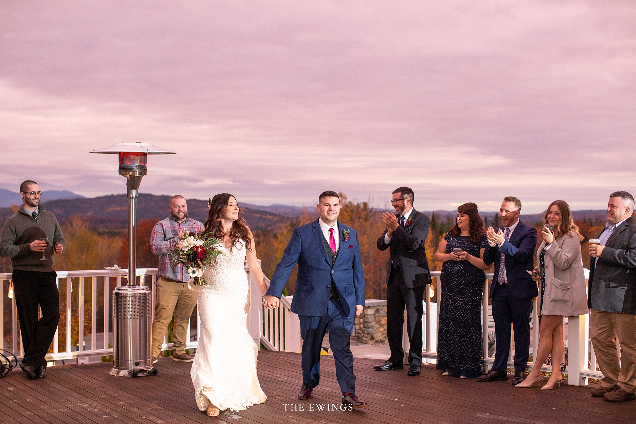 A white mountains micro wedding at Mountainview grand, just down the road from Mount Washington Hotel.