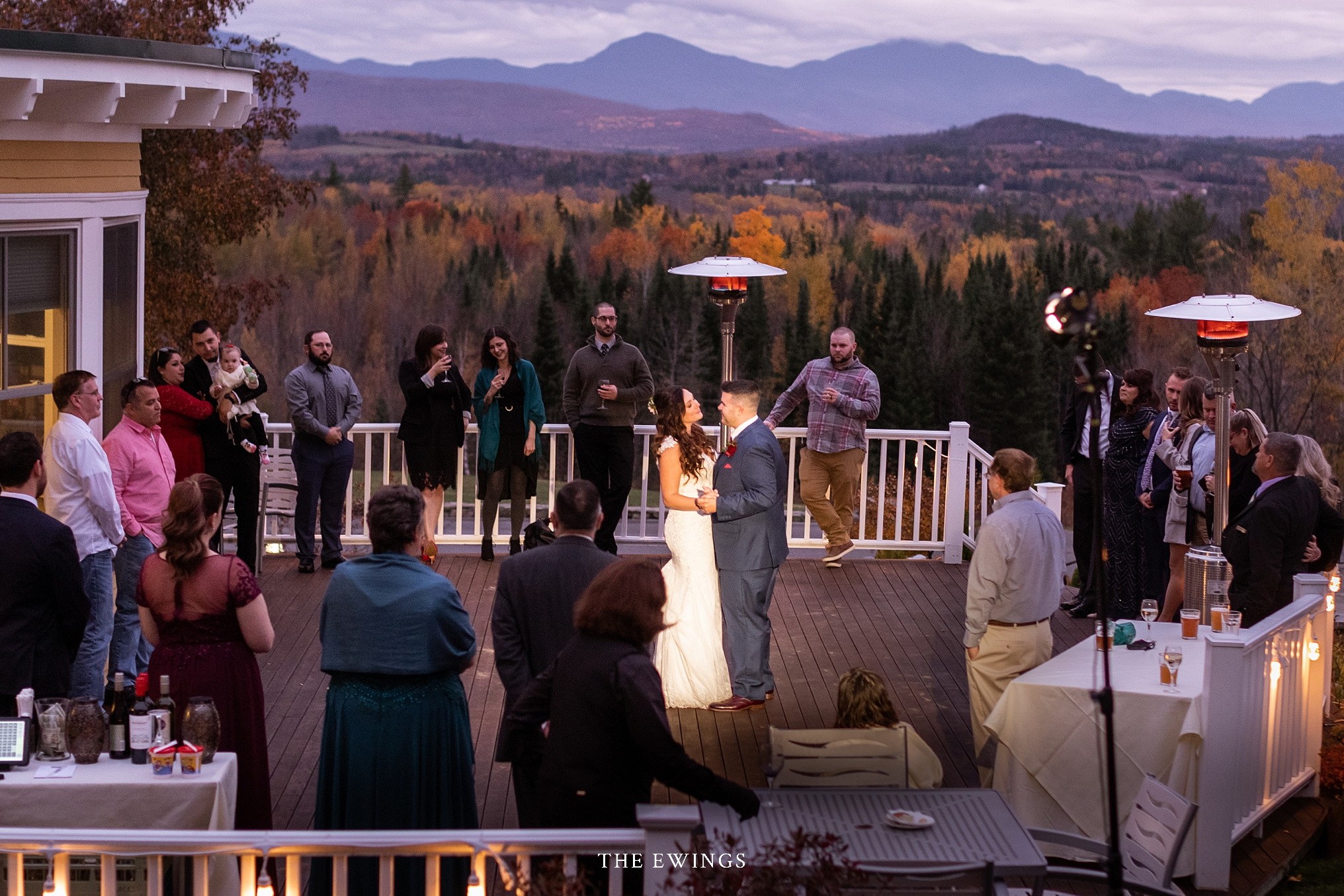 These two were married at the Mountainview Grand in the white mountains of New Hampshire, with views of Mount Washington and the Presidential Range wedding.