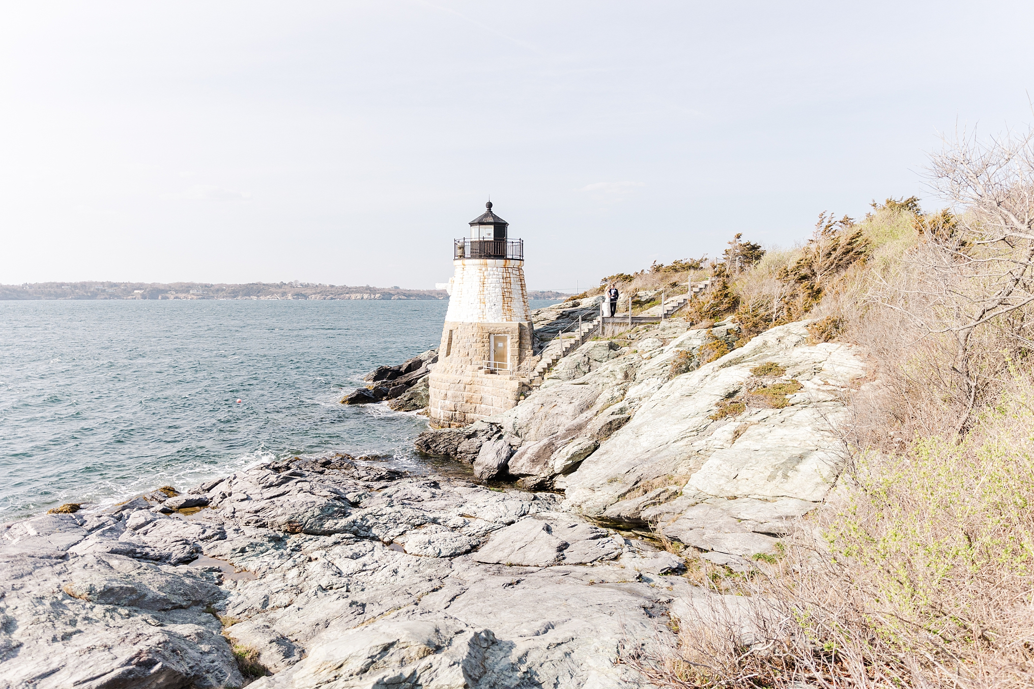 Castle Hill wedding in Newport RI - tent and lighthouse photography