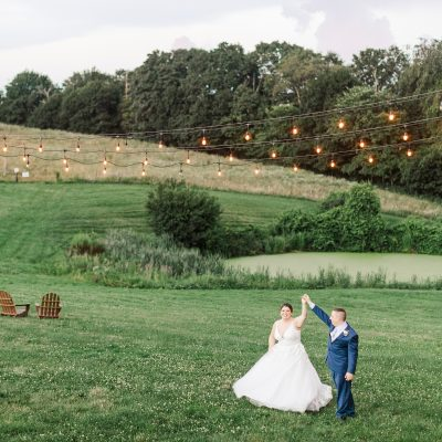 Summer barn wedding in Central Massachusetts bride and groom The Ewings