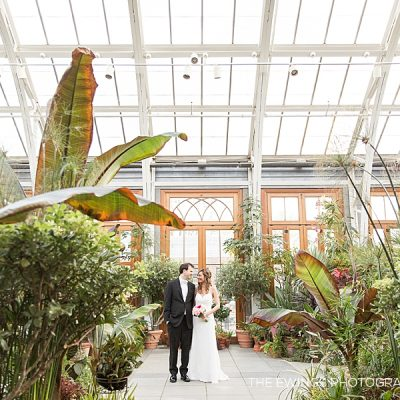 Tower Hill wedding photography in the garden greenhouse